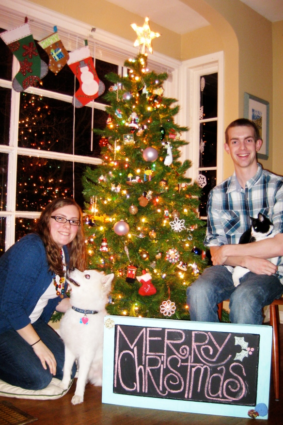 Merry Christmas! Love, David, Shannon, Japhy, & Butters