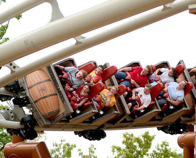 PowderKeg Roller Coaster at Silver Dollar City