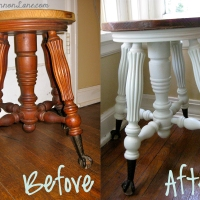 DIY Painted Claw Foot Stool
